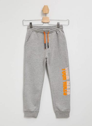 DeFacto Baskılı Slim Fit Jogger Pantolon Gri